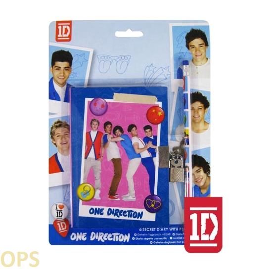 ONE DIRECTION SECRET DIARY WITH PENCIL