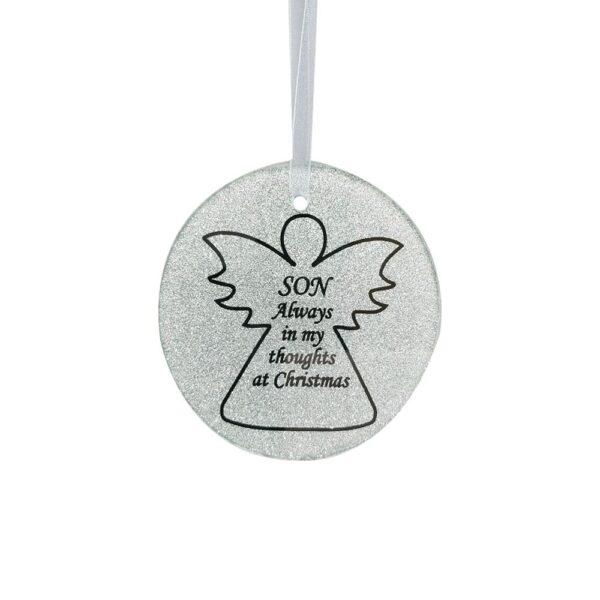 Son Angel Tree Hanger 9cm Dia CHRISTMAS