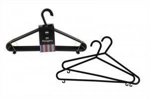 Adult Plastic Hangers Pack of 20 Clothes Garment Coat Hanger Trouser Bar Lips