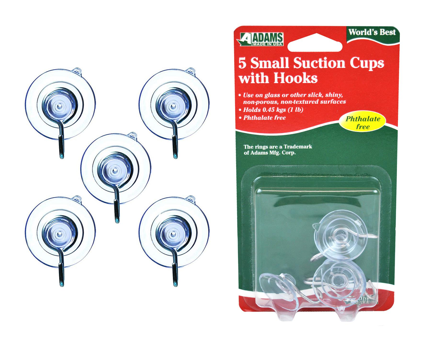 SMALL SUCTION CUPS WITH HOOK