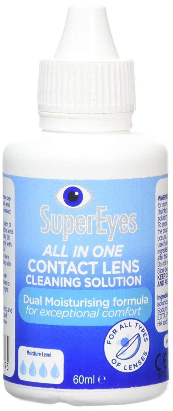 SuperEyes All in One Contact Lens Cleaning Solution 60ml