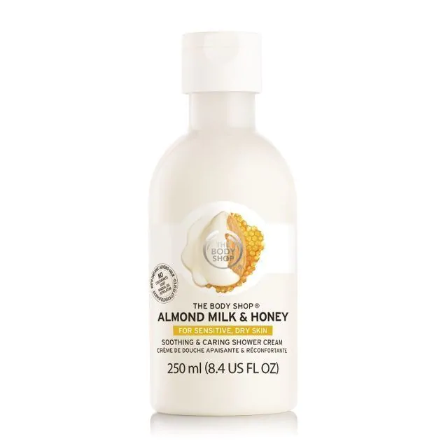 The Body Shop Almond Milk & Honey Soothing & Caring Shower Cream 250ml