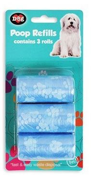 World of Pet's Poop Refills 3 x 20 piece Rolls for use with Poop Bag Holder