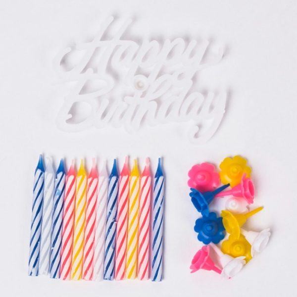 Birthday Candles with Holder