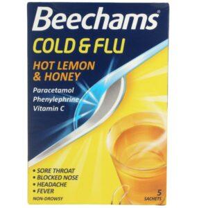 Beechams Cold & Flu Hot Honey Lemon 5 Sachets