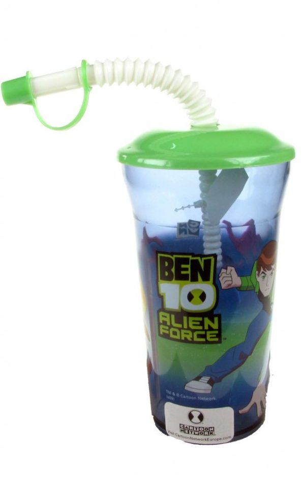BEN 10 ALIEN FORCE DRINKING CUP & STRAW