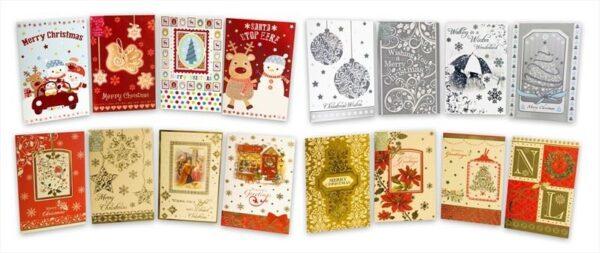 40 Christmas Cards envelopes Happy Merry Snowman Santa Jolly Snow Greetings