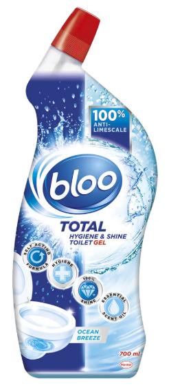 Bloo Total Hygiene & Shine Toilet Gel Ocean Breeze 700ml