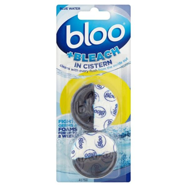 bloo + bleach in cistern toilet blocks