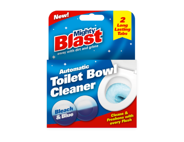 MIGHTY BLAST AUTOMATIC TOILET BOWL CLEANER 2 LONG LASTING TABS
