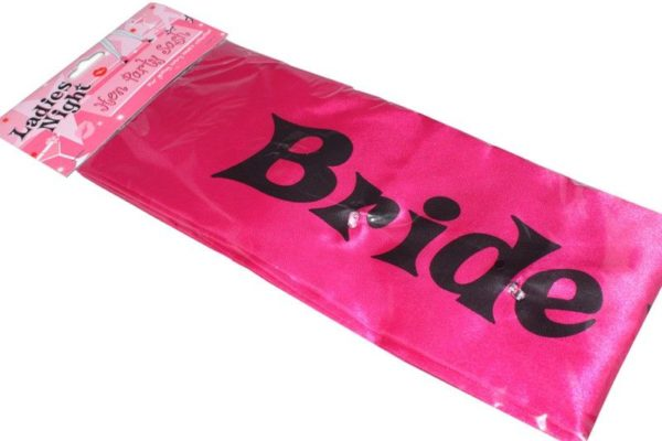 Bride to be sash with flashing lights