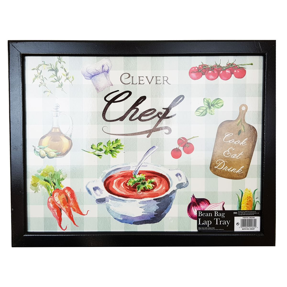 Bean Bag Lap Tray 44x34cm Clever Chef Design