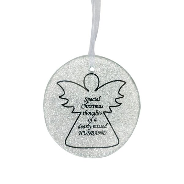 Husband Angel Tree Hanger 9cm Dia CHRISTMAS