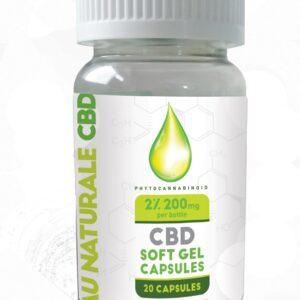 Au Naturale CBD Soft Gel Capsules 20 Capsules Food Supplements