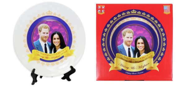 Royal Wedding Commemorative Plate with Stand Ceramic Plate Prince Harry