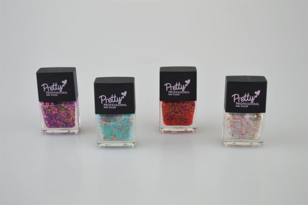 Pretty Professional Neon Speckle Collection | 4 x 12ml Bottles Nail Polish