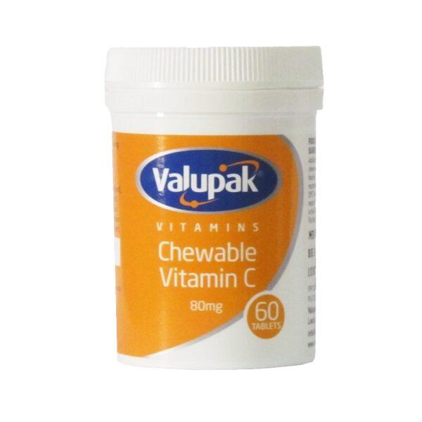 Valupak Chewable Vitamin C 60 Tablets