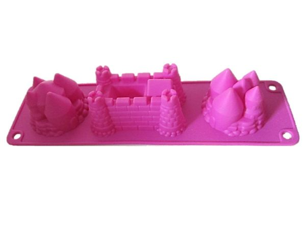 Children's castle Jelly mould pink