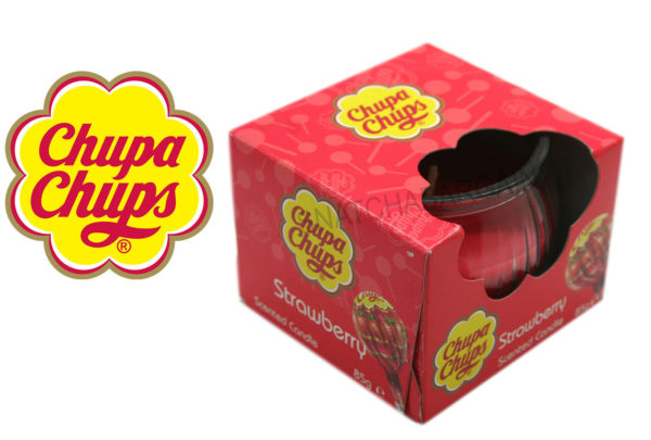 Chupa Chups Strawberry Scented Candle 85g