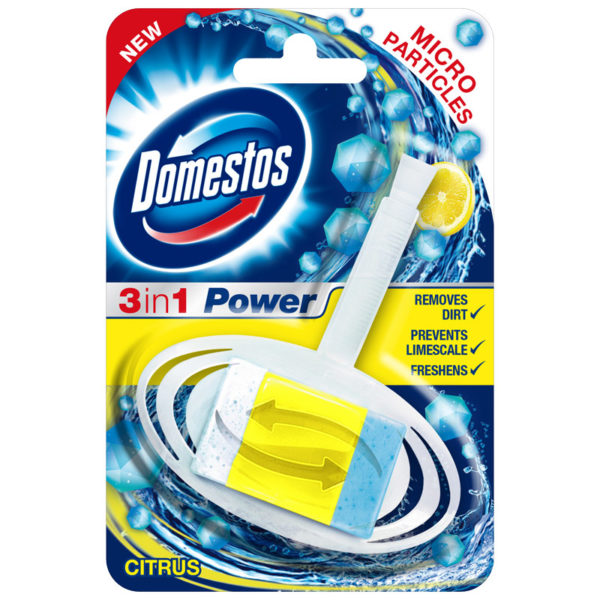 Domestos 3 in 1 power toilet block (Citrus)