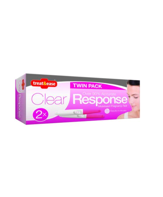 Clear Response Midstream Pregnancy Test 2pk