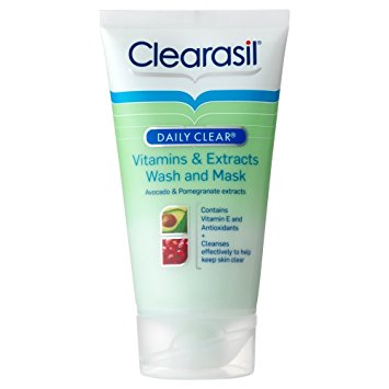 Clearasil Daily Clear Vitamins & Extracts Wash and Mask 150ml