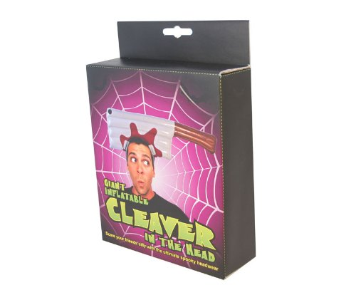 Giant inflatable cleaver in the head