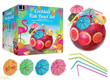 bello cocktail fish bowl set