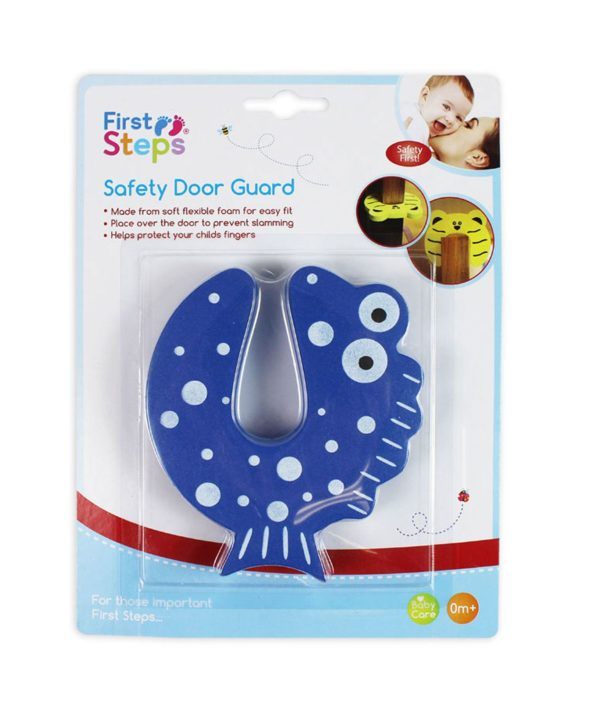 Child Safety Door Stop Stopper Animal Hinge Cushion Finger Protector Blue