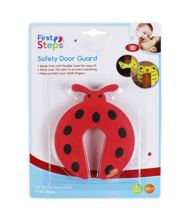 Child Safety Door Stop Stopper Animal Hinge Cushion Finger Protector Red