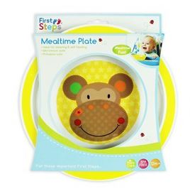 First Steps Jungle Pals Mealtime Plate BPA Free 12months + Weaning Self Feeding
