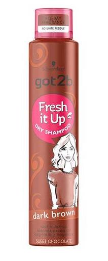 Schwarzkopf Got2b Fresh It Up Dry Shampoo Dark Brown 250ml