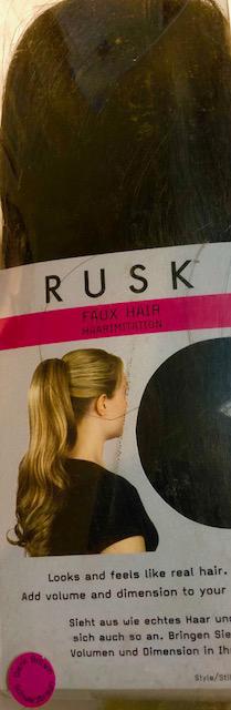 Rusk Faux Hair Dark Brown Hair Extension