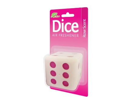 Dice Air Freshener - Rose Scent (45g)