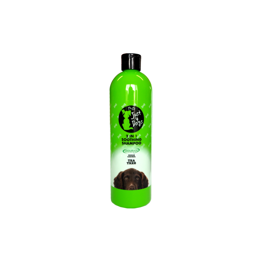 Dr J's Just 4 Dogs 2 in 1 Soothing Shampoo Tea Tree 500ml