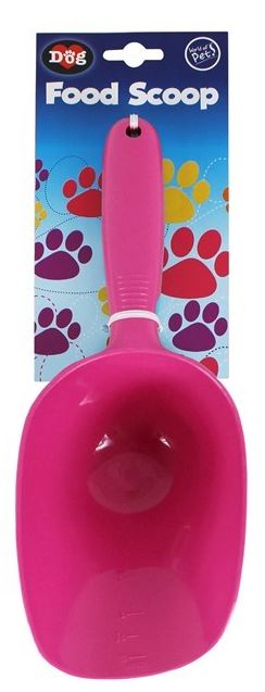 Pet Scoop Food Dog Products Puppy Feeder Cleaning Shovel Pink