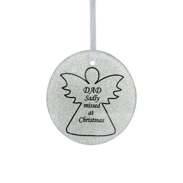 Dad Angel Tree Hanger 9cm Dia CHRISTMAS