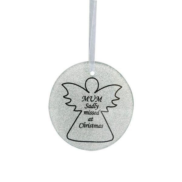 Mum Angel Tree Hanger 9cm Dia CHRISTMAS