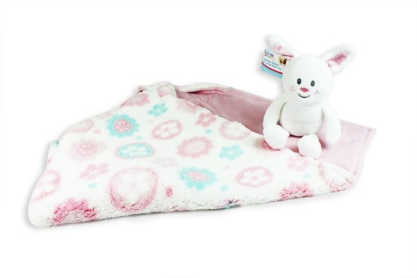 Super Soft Baby Blanket with Plush Toy Newborn Luxury Gift Baby Shower Nursery