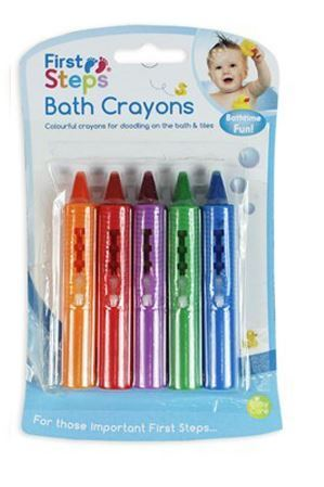 Baby Bath Crayons Pack of 5 for Fun in Bath - Non Toxic Bath Toys First Steps