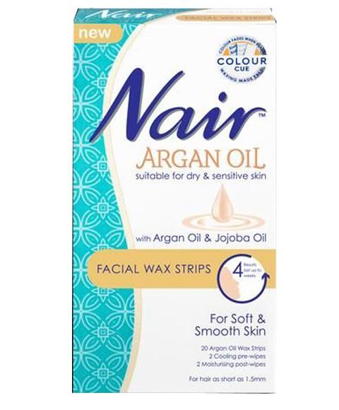 Nair Argan Oil Facial Wax Strips