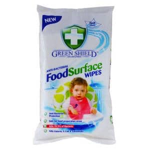 Green Shield Food Surface - 70 extra large Wipes