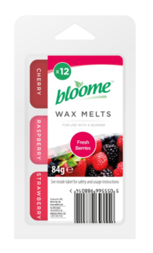Bloome 12 Wax Melts Fresh Berries 84g