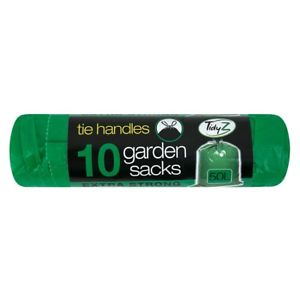 Extra Strong Garden Bags-Sacks Tie Handles TidyZ 50L