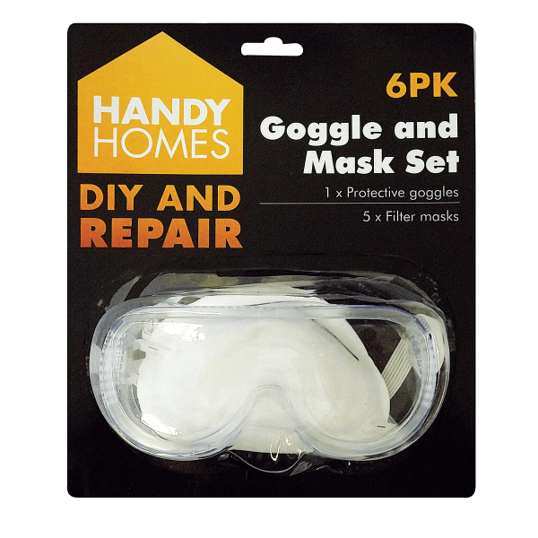 Handy Homes 4pk Safety Goggle & Mask Set