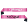 HEN Night DOUBLE SIDED SASH (BAD GIRL/good girl)