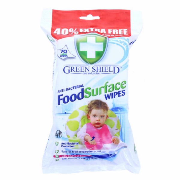 Green Shield Anti-Bacterial Food Surface Wipes 70's