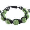 Crystal Ball Bracelet Green