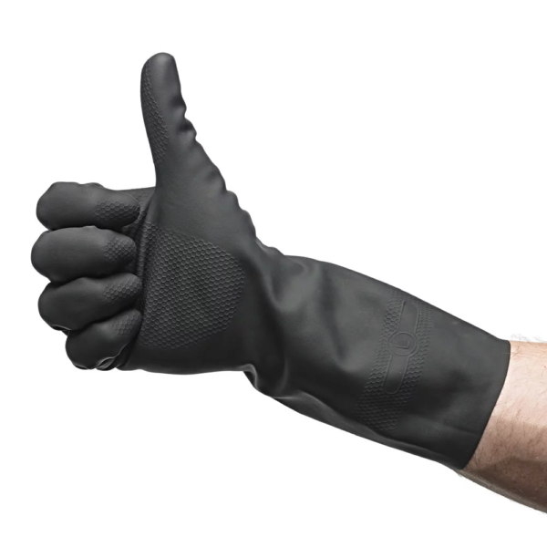 Heavy Duty Rubber Gloves with Extra Grip Palm Large