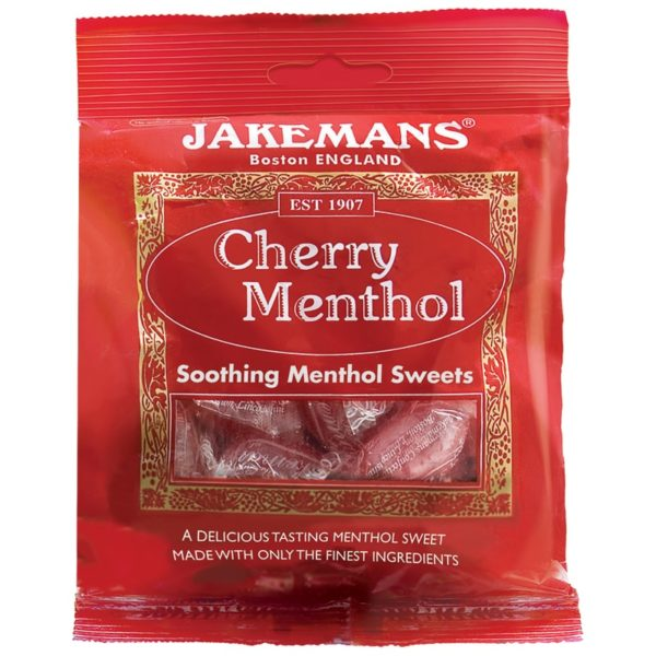 Jakemans Cherry Soothing Menthol Sweets 100g